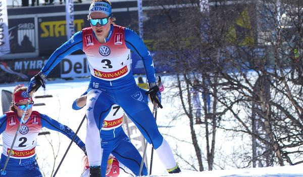 Moa Lundgren knep ett silver på Terräng-SM hemma i Umeå i helgen. Här är Moa vid SM-tävlingarna i Bruksvallarna i våras. FOTO: Johan Trygg/Längd.se.