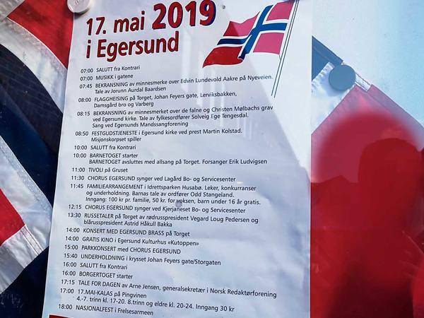 Program for 17. mai 2019