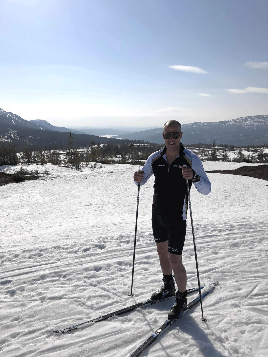 Som boende i Åre har Daniel haft möjlighet till en hel del fin vårskidåkning.