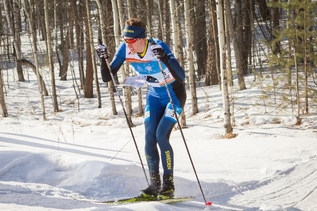 Världsmästaren Erik Rost har bestämt sig för att fortsätta sin satsning i skidorienteringslandslaget. FOTO: Svenska orienteringsförbundet.