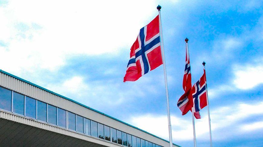 Flagg utenfor Egersundshallen