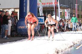 På Nationaldagen blir det traditionsenligt sprinttävlingar på snö i Mjölby centrum. FOTO: Sya SK.