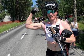 Precis som i fjol var norrmannen Anders Höst starkast på 43 kilometer långa Rullskidgalejet. FOTO: Rullskidgalejet.