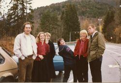 Visegruppa på veg til Kaupanger 1984