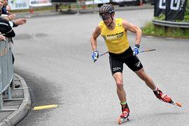Flervaldige världscupvinnaren Robin Norum är en av åkarna i den svenska truppen till världscupen på rullskidor i Kina. FOTO: Johan Trygg/Längd.se.