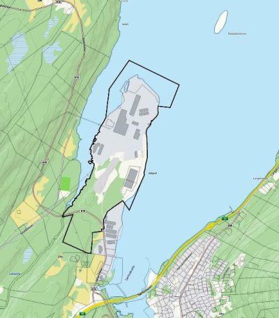 Planområde på grunnkart