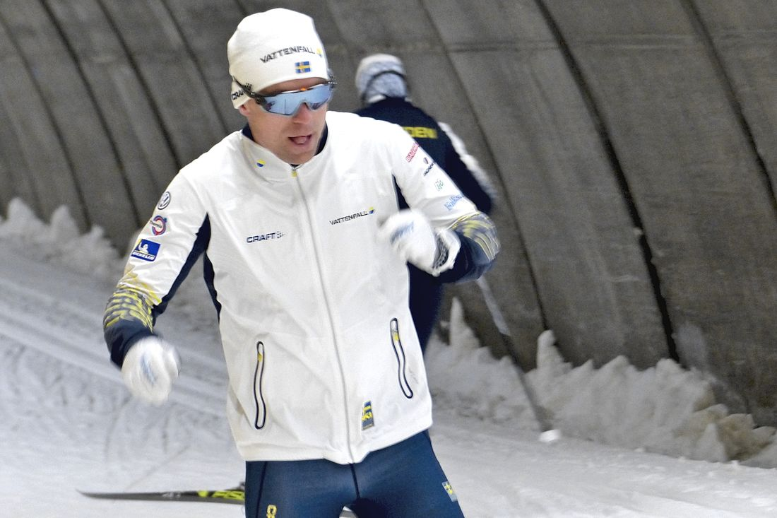 Martin Bergström har bestämt sig för att avsluta sin elitsatsning. Här är Martin med läger med landslaget i Torsby skidtunnel förra sommaren. FOTO: Johan Trygg/Längd.se.
