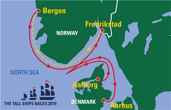 Rute Tall ships races 2019