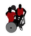 Illustrasjon som viser to personer som holder på med rullestolbasket