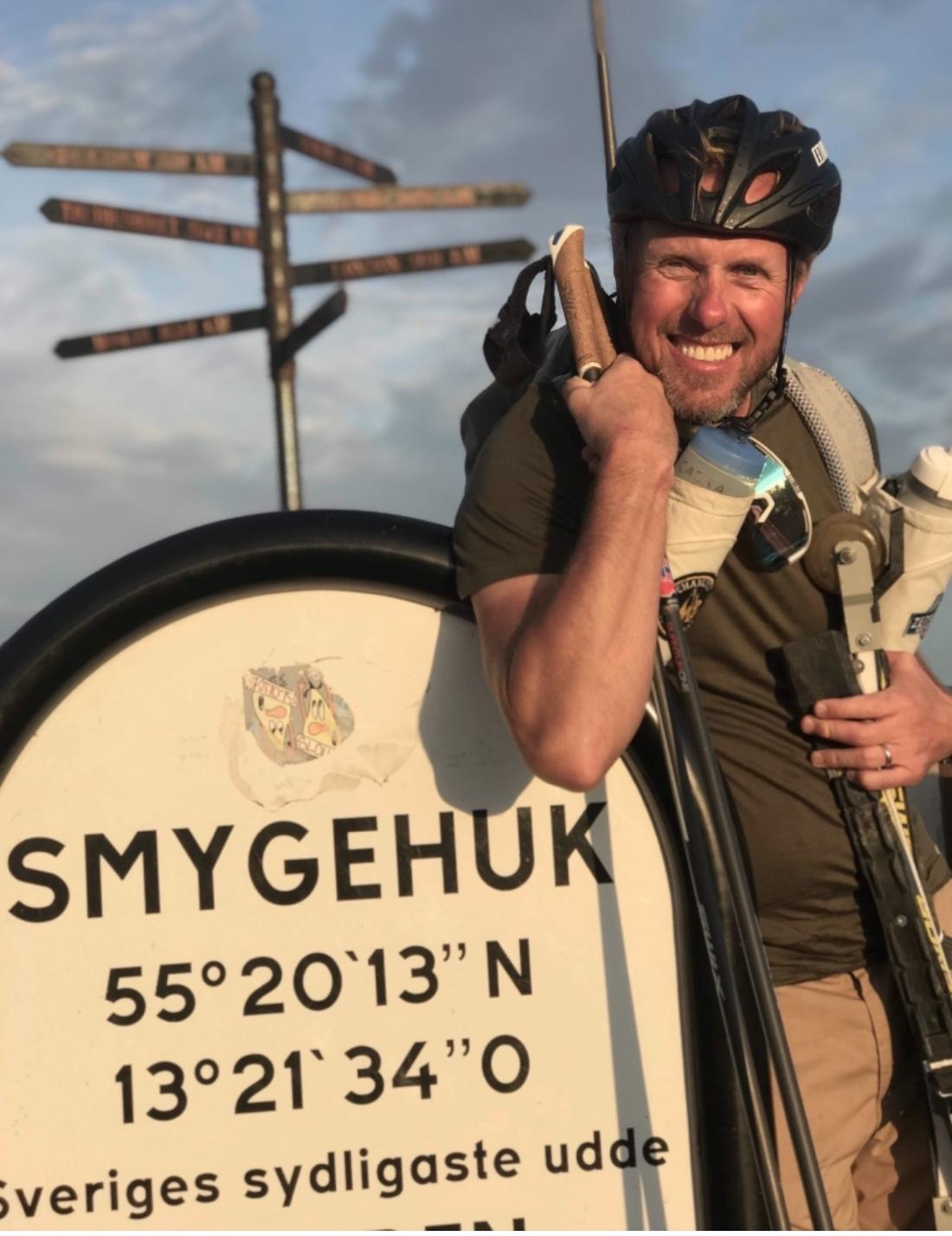 I onsdags nådde Fredrik slutmålet Smygehuk.