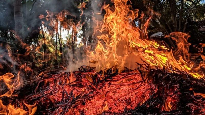 Skogbrannfare. Bilde fra Namdal brann- og redningsvesen