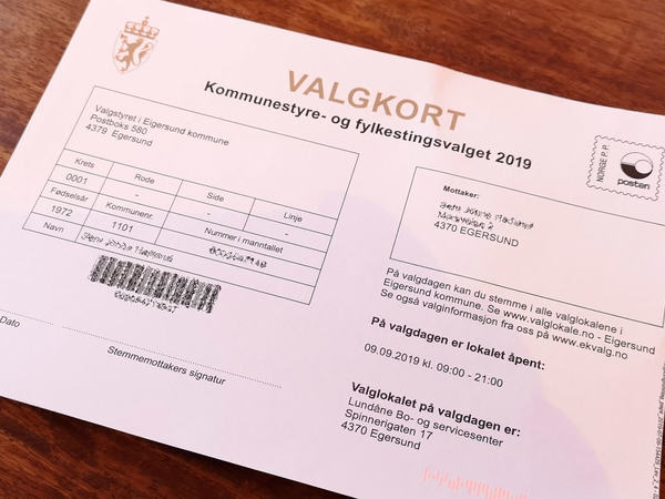 Valgkort