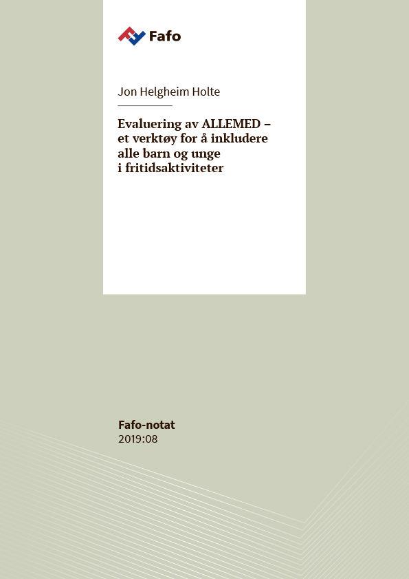 Omslagsbilde til evalueringsrapport av ALLEMED – et verktøy for å inkludere alle barn og unge i fritidsaktiviteter