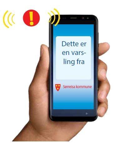 Du blir varslet på telefon, epost eller fasttelefon