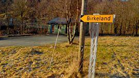 Skilt på Birkeland
