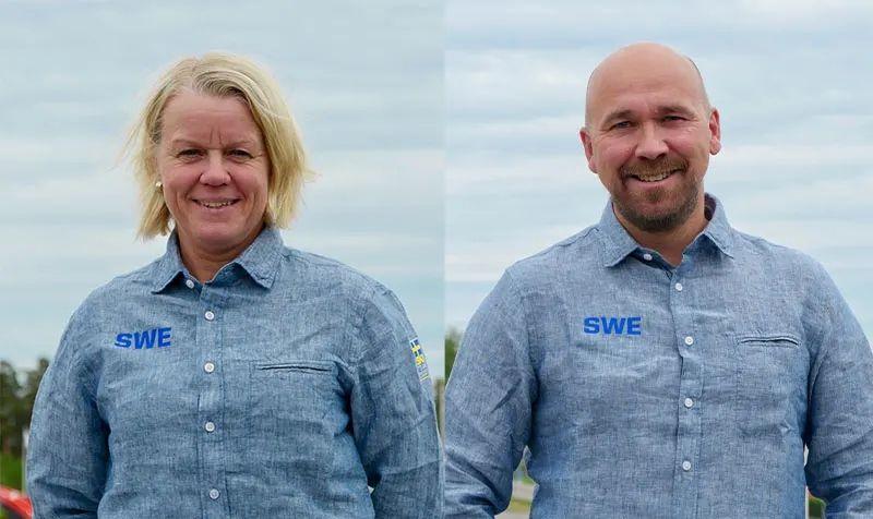 Karin Ersson och Lars Selin är duon som tillsammans ska leda längdlandslaget i vinter. FOTO: Svenska skidförbundet.