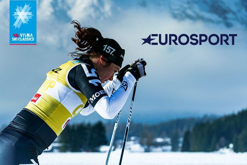 Visma Ski Classics och Discovery Sweden fortsätter samarbeta och tionde säsongen sänds gratis i Kanal 9 och på Eurosport Player. FOTO: Visma Ski Classics.