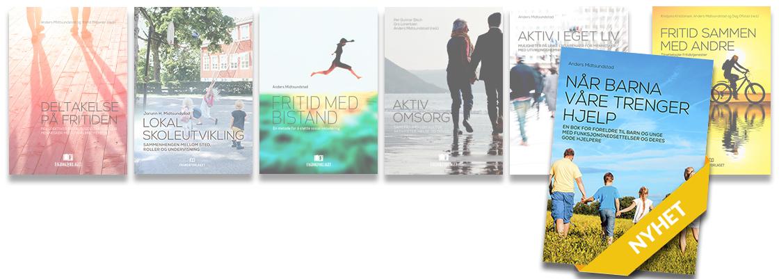 Bilde av bøkene i bokserien vår