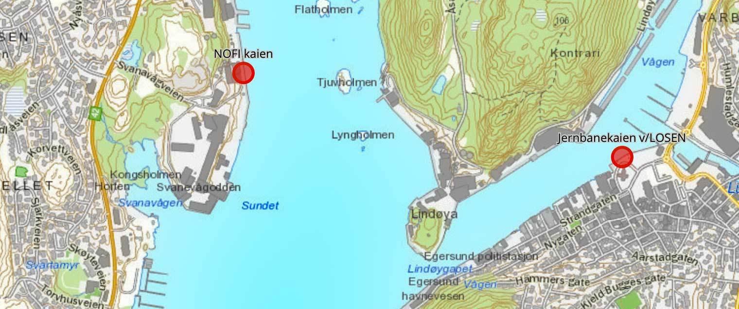 Bybåten kart
