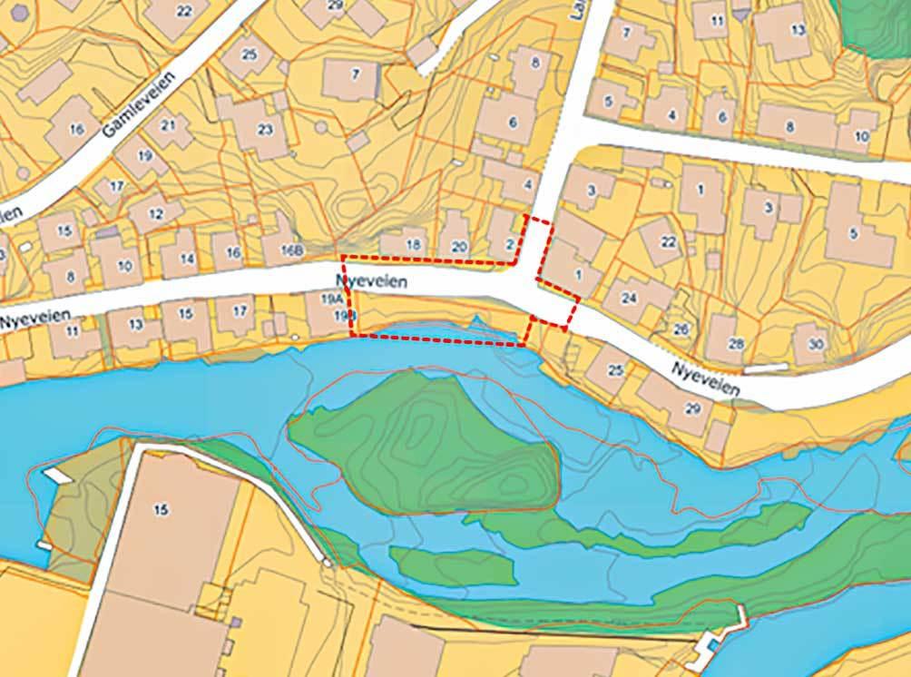 Kart over Granholmen