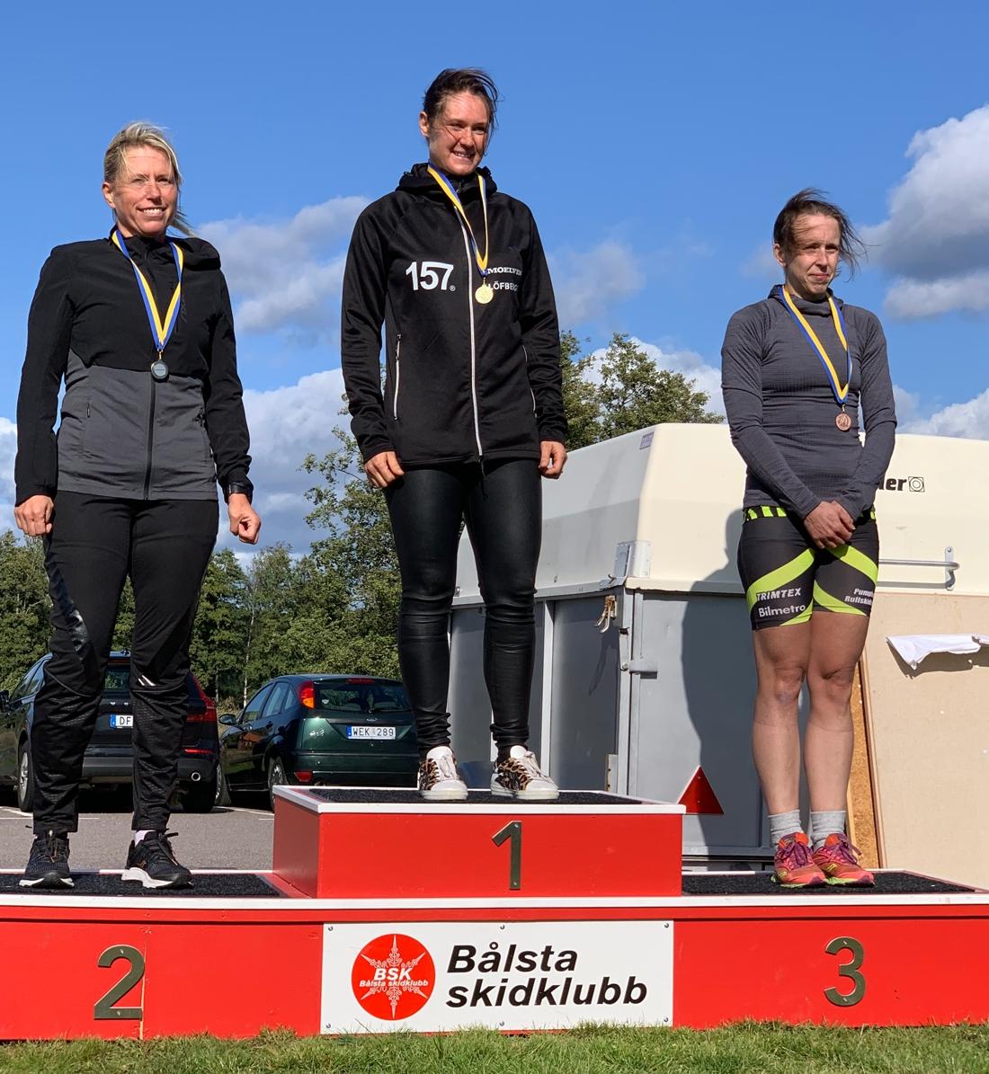 Dampallen med fr.v. Carina Wärme, Britta Johansson Norgren och Jenni Ehn Gårdhage. FOTO: Skoklosterrullen.