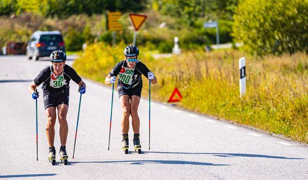 Emil Persson och Andreas Holmberg dominerade Skoklosterrullen. Till slut var Holmberg starkast och vann med dryga minuten. FOTO: T-W Media.