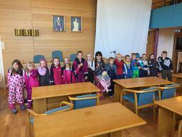 1. og 2. klasse ved Straume skole 2019