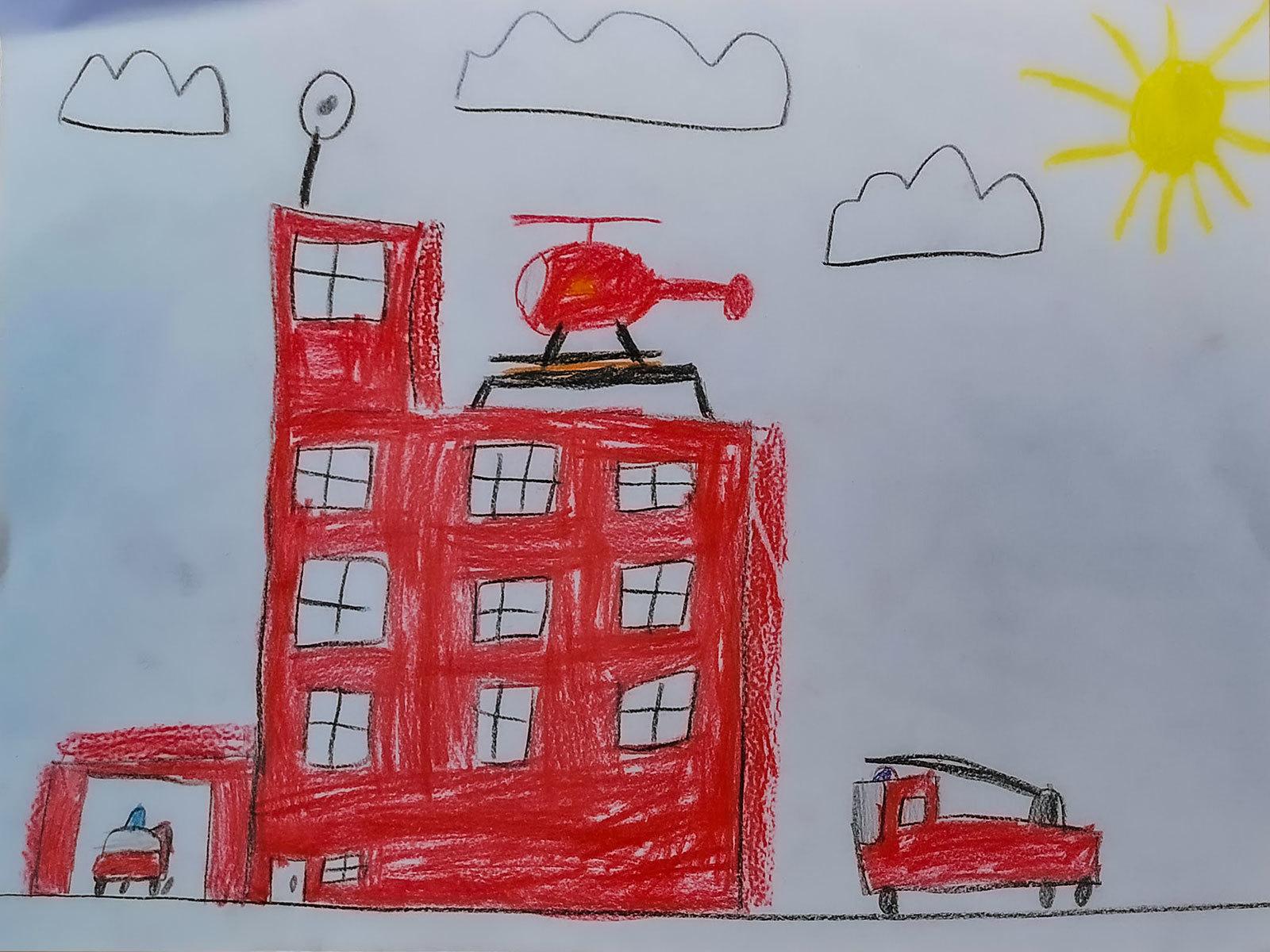 Tegning av Jakob på 9 år
