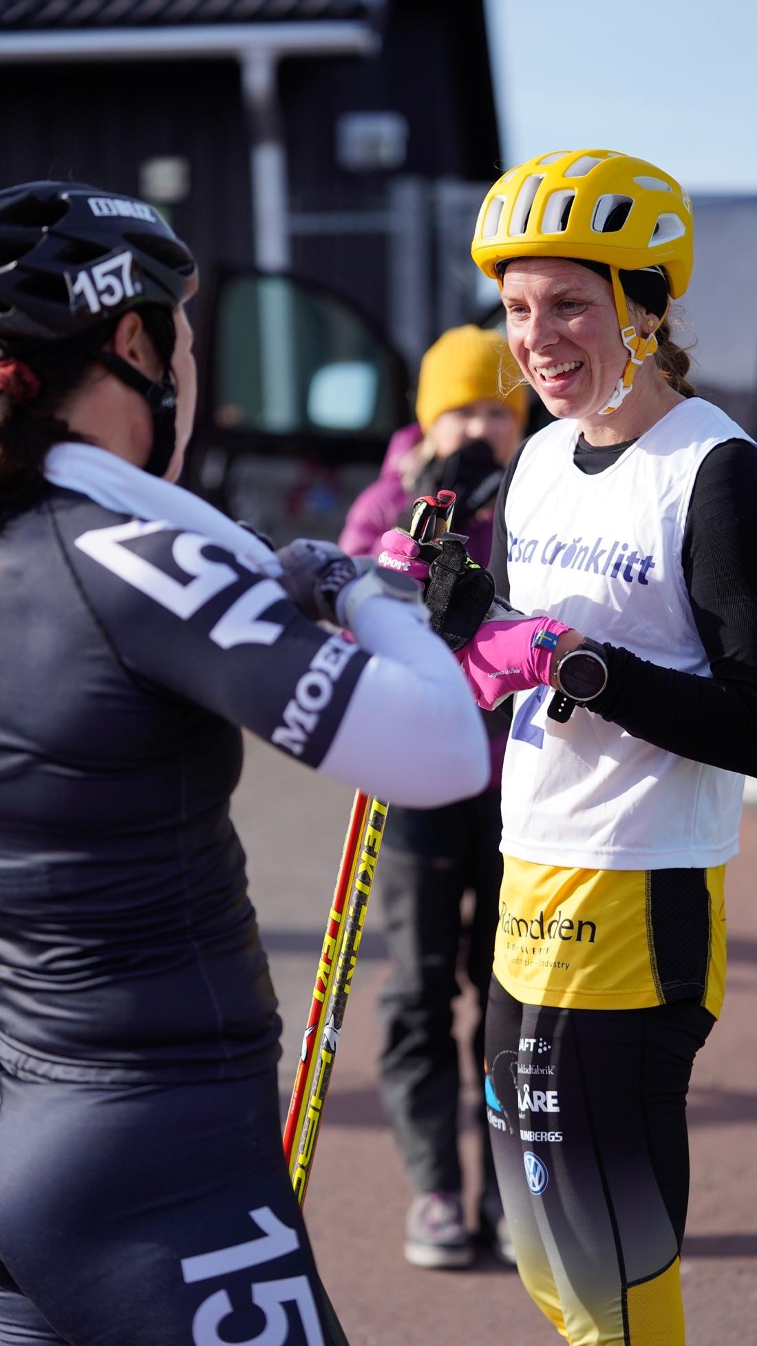Britta Johansson Norgren och Lina Korsgren i eftersnack. FOTO: TW Media.