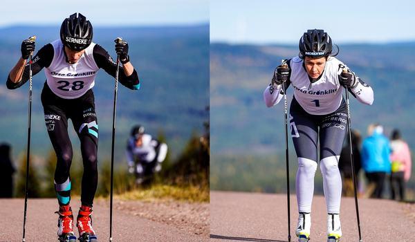 Pontus Nordström och Britta Johansson Norgren vann Grönklitt Double Poling Hill Climb  på söndagen, i samband med invigningshelgen av Multiskidbanan i Grönklitt. FOTO: TW Media.