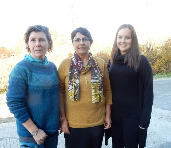 f.v. Rita Rønnebu, Randi Langø og Grethe Caroline A Johansen