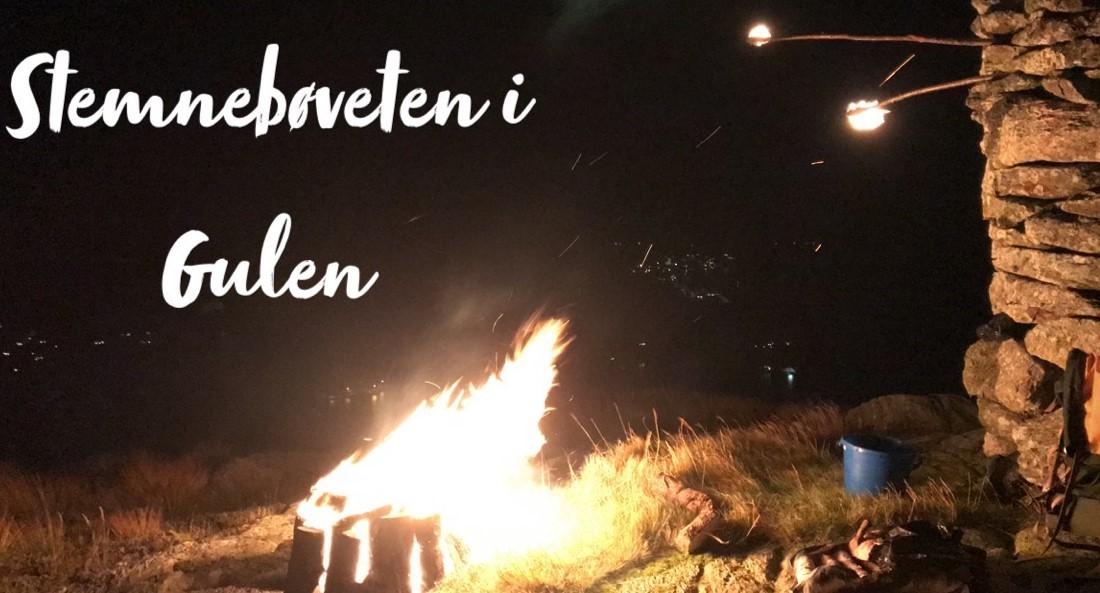 Bål i Gulen