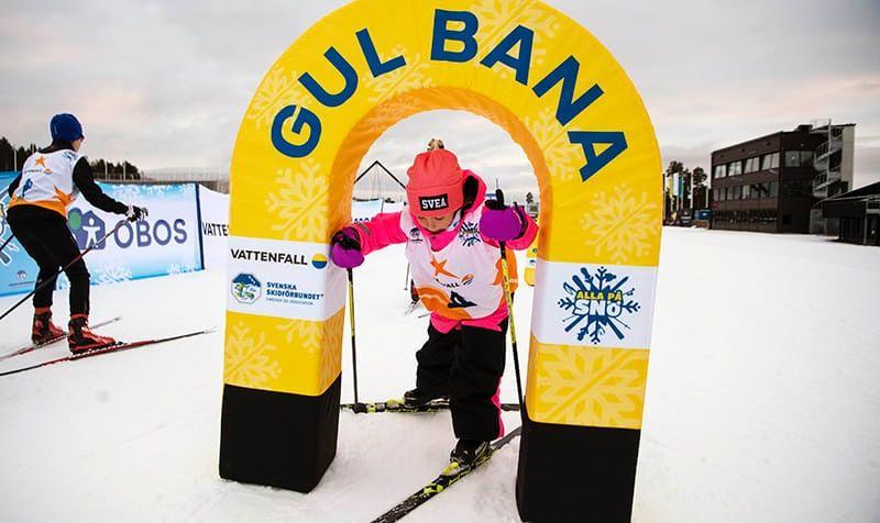 Alla på snö har hittills aktiverat fler än 320 000 barn. 6 november kommer 1 200 fjärdeklassare till Skidome, Göteborg. FOTO: Ulf Palm.