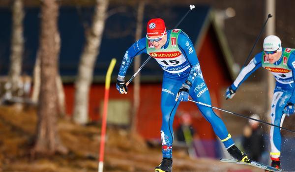 Karl-Johan Dyvik är en av de svenska åkarna som utmanar världens snabbaste, norrmannen Ludvig Sögnen Jensen, på Supersprinten i Östersund. FOTO: Bildbyrån/Johan Axelsson.