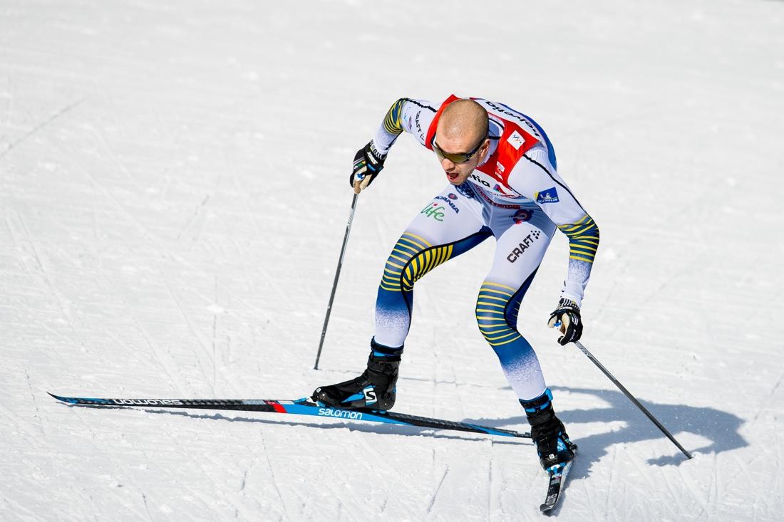 Viktor under sprintprologen på VM i Seefeld i vintras där han var snabbast tillsammans med Sergey Ustiugov. FOTO: Bildbyrån/Vegard Wivestad Grött.