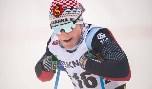Jens Burman vann klart på 15 kilometer fristil i Bruksvallarna på lördagen. FOTO: Bildbyrån/Simon Hastegård.