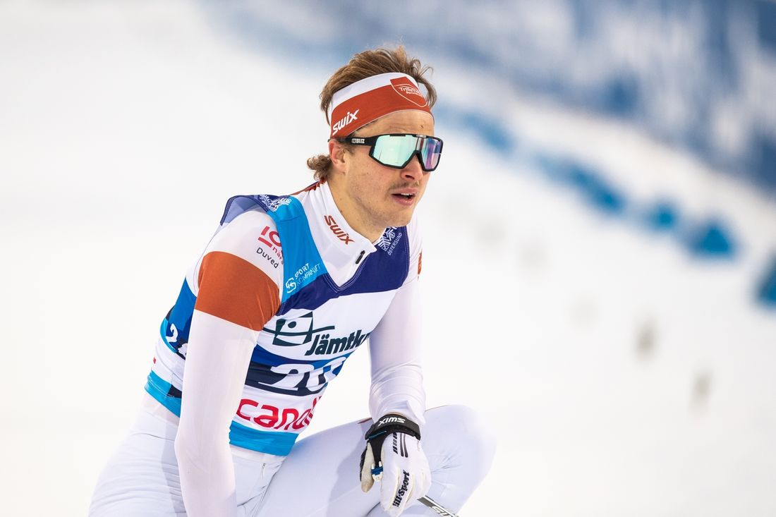 Olle Jonsson vann fristilssprinten i Bruksvallarna på söndagen. FOTO: Bildbyrån/Johan Axelsson.