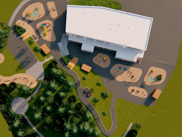 3D modell av barnehage
