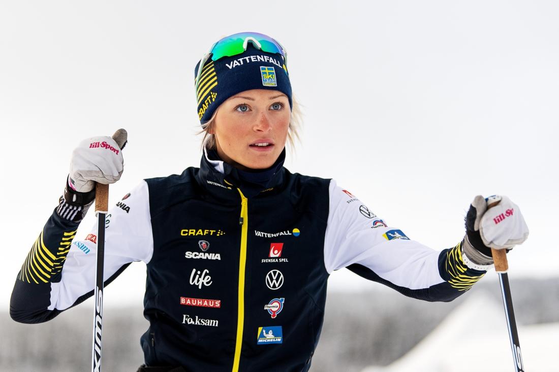 Frida Karlsson under landslagets träningsläger i Bruksvallarna förra veckan. FOTO: Bildbyrån/Mathias Bergeld.