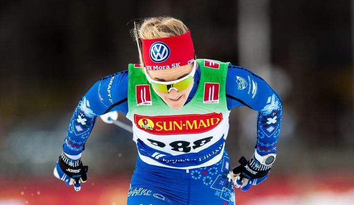 Känning i ena axeln gör att Stina Nilsson står över premiären i Gällivare. FOTO: Bildbyrån/Johan Axelsson.