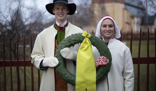 Daniel Duhlbo och Fanny Axelsson heter Vasaloppets kransmas  och kranskulla 2020. FOTO: Vasaloppet.