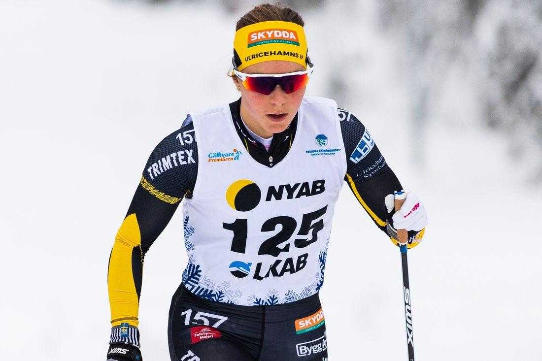 Johanna Hagström var prologsnabbast i Gällivare på söndagsmorgonen. FOTO: Bildbyrån/Mathias Bergeld.