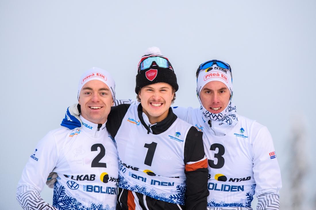 Pallen med Martin Bergström, Olle Jonsson och Johan Häggström. FOTO: Bildbyrån/Mathias Bergeld.