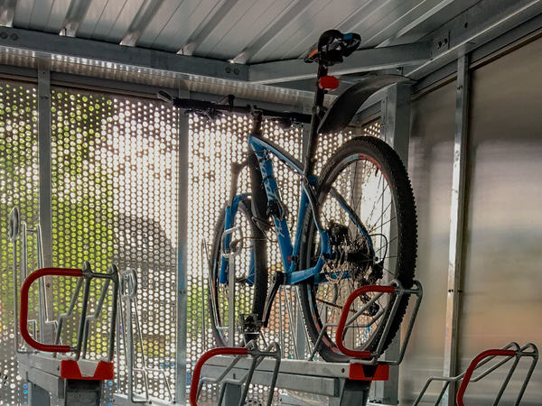 Sykkel i stativ