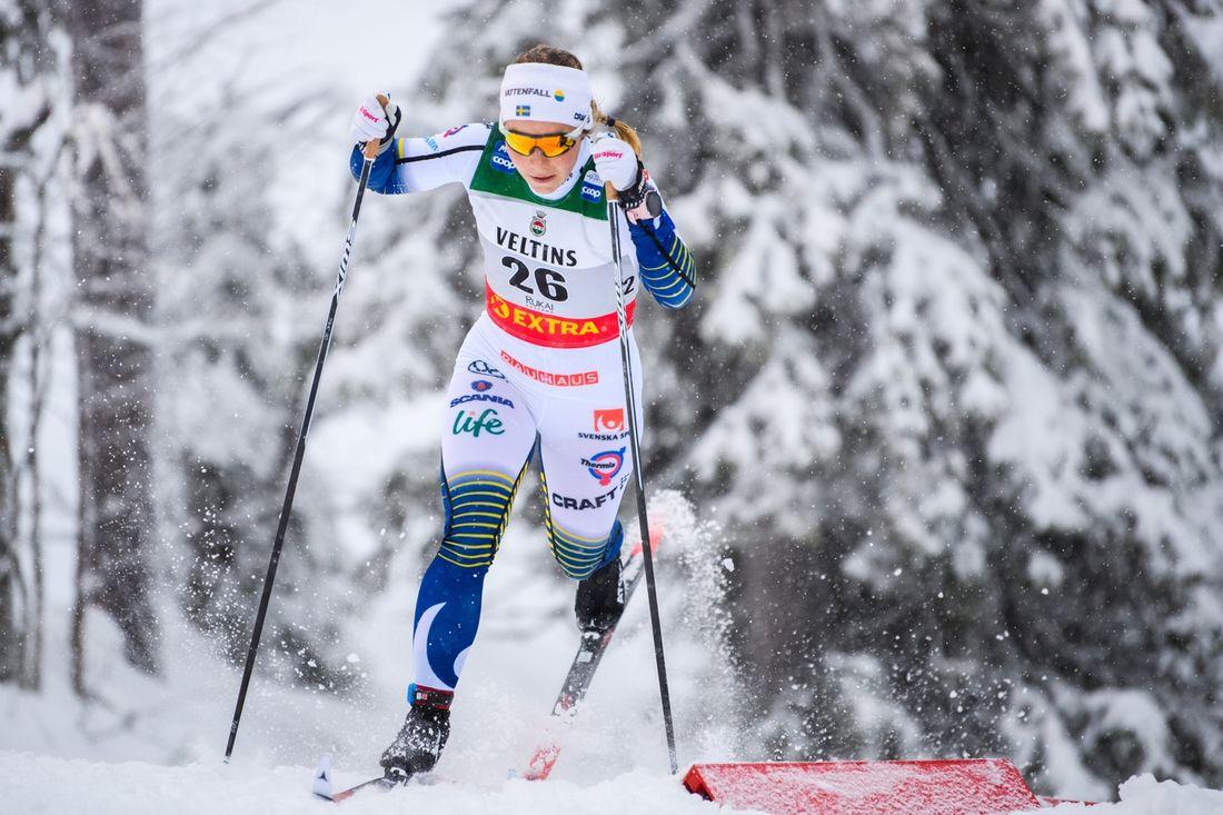 Johanna Hagström var 14:e i prologen i Ruka och var en av sex svenskor som tog sig vidare. FOTO: Bildbyrån/Carl Sandin.