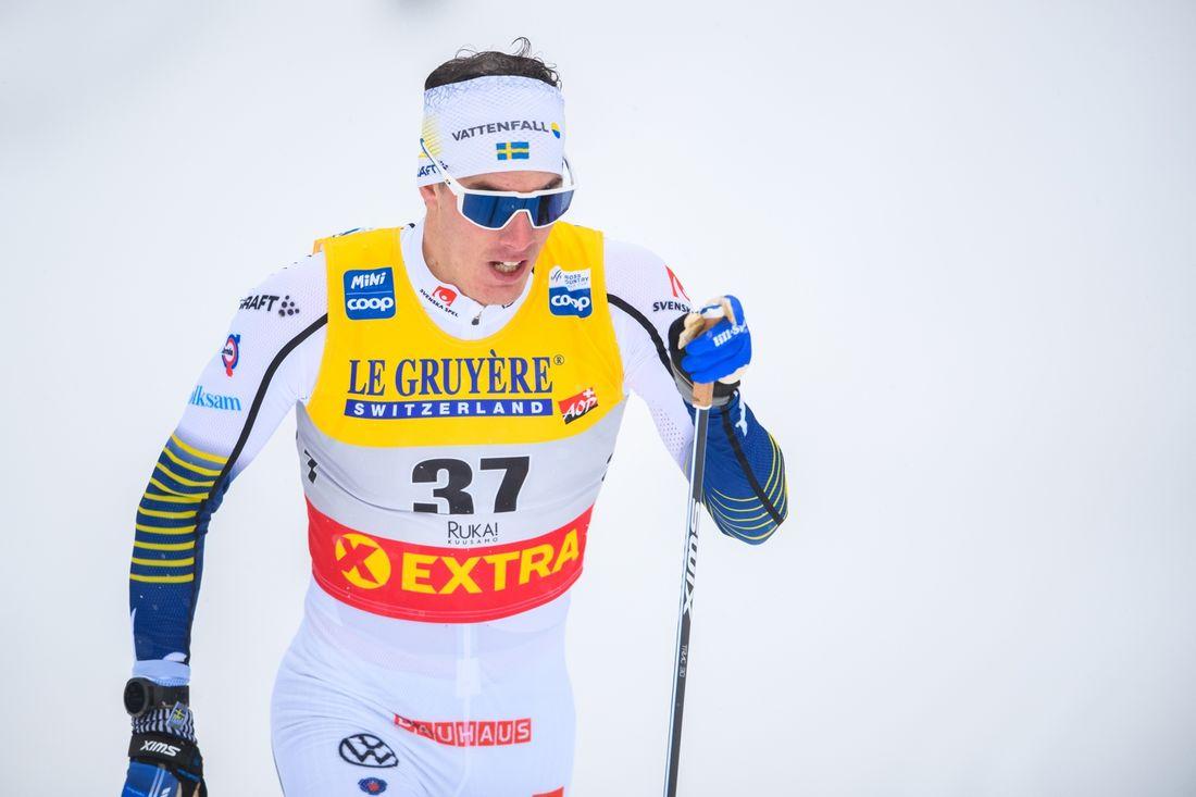 Johan Häggström var stark femma i sprintprologen i Ruka. FOTO: Bildbyrån/Carl Sandin.