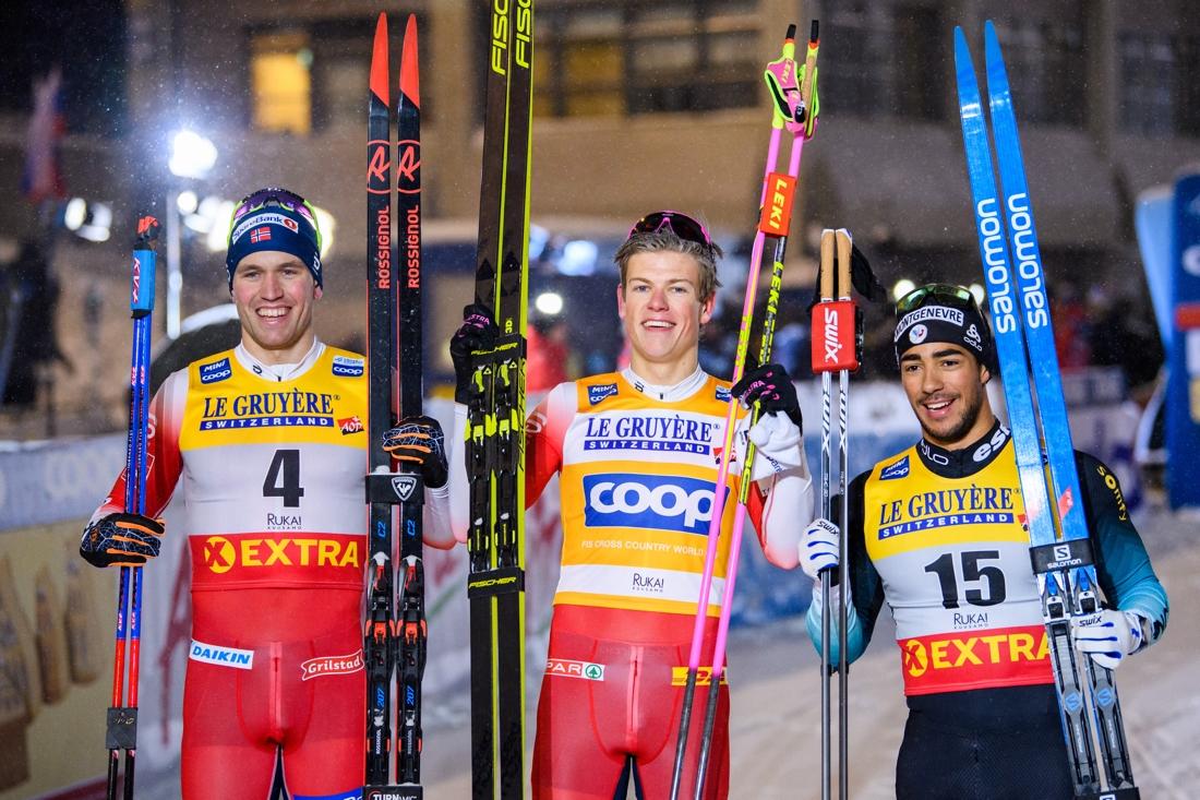 Topptrion Pål Golberg, Johannes Hösflot Kläbo och Richard Jouve. FOTO: Bildbyrån/Carl Sandin.