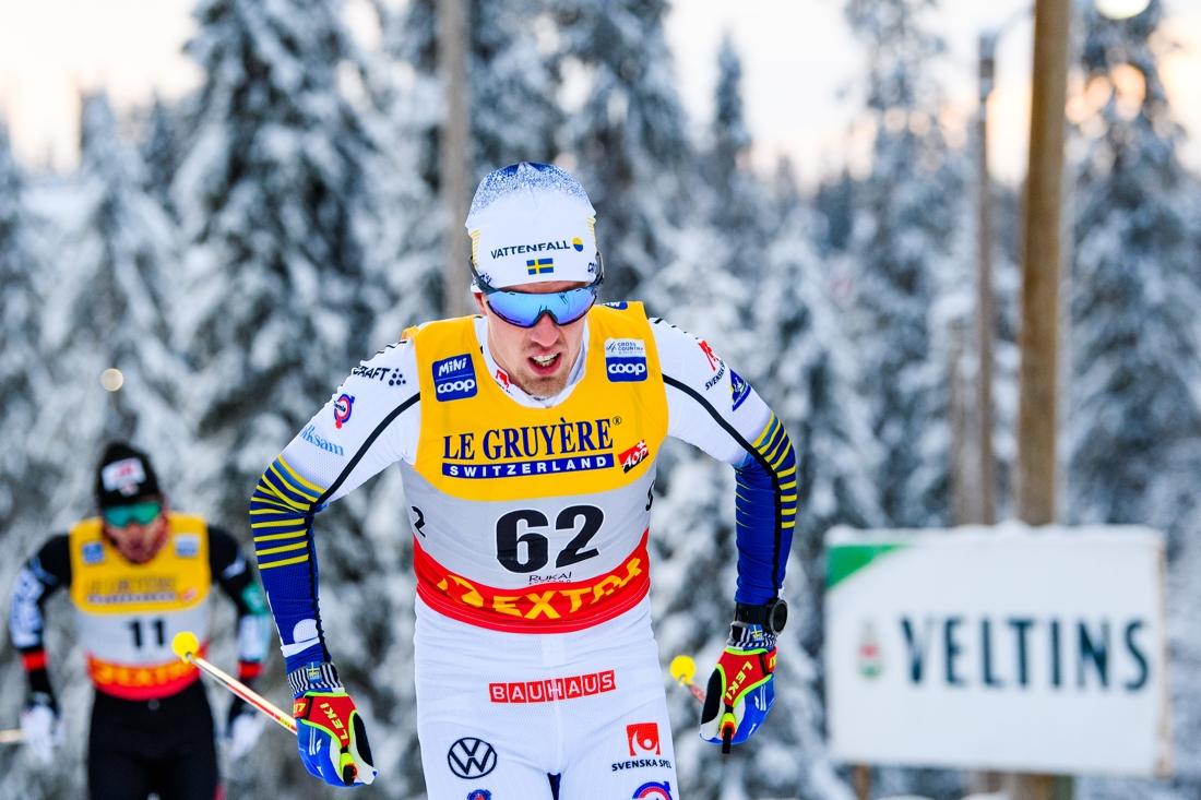 Calle Halfvarsson öppnade loppet starkt men föll tillbaka och slutade tolva. FOTO: Bildbyrån/Carl Sandin.
