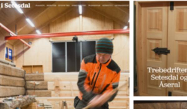 Nettside for prosjektet Tre i Setesdal
