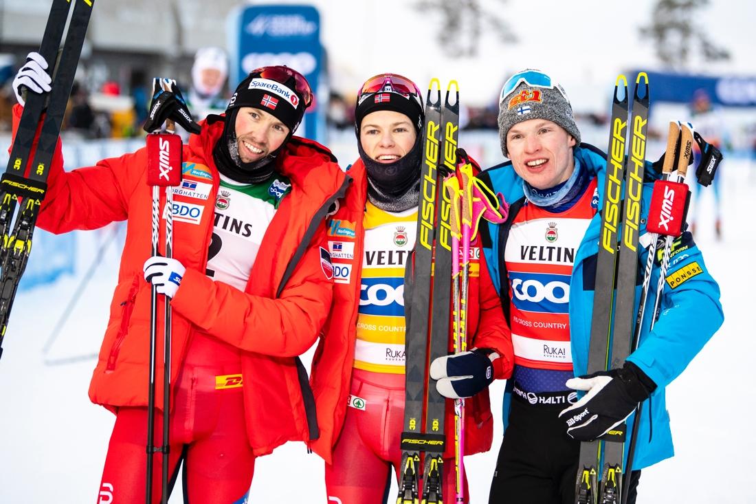 Topptrion: Iversen, Kläbo och Niskanen. FOTO: Bildbyrån/Carl Sandin.